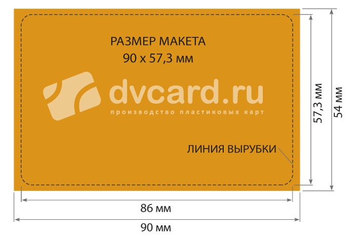 Требования к макету при изготовление пластиковых карт